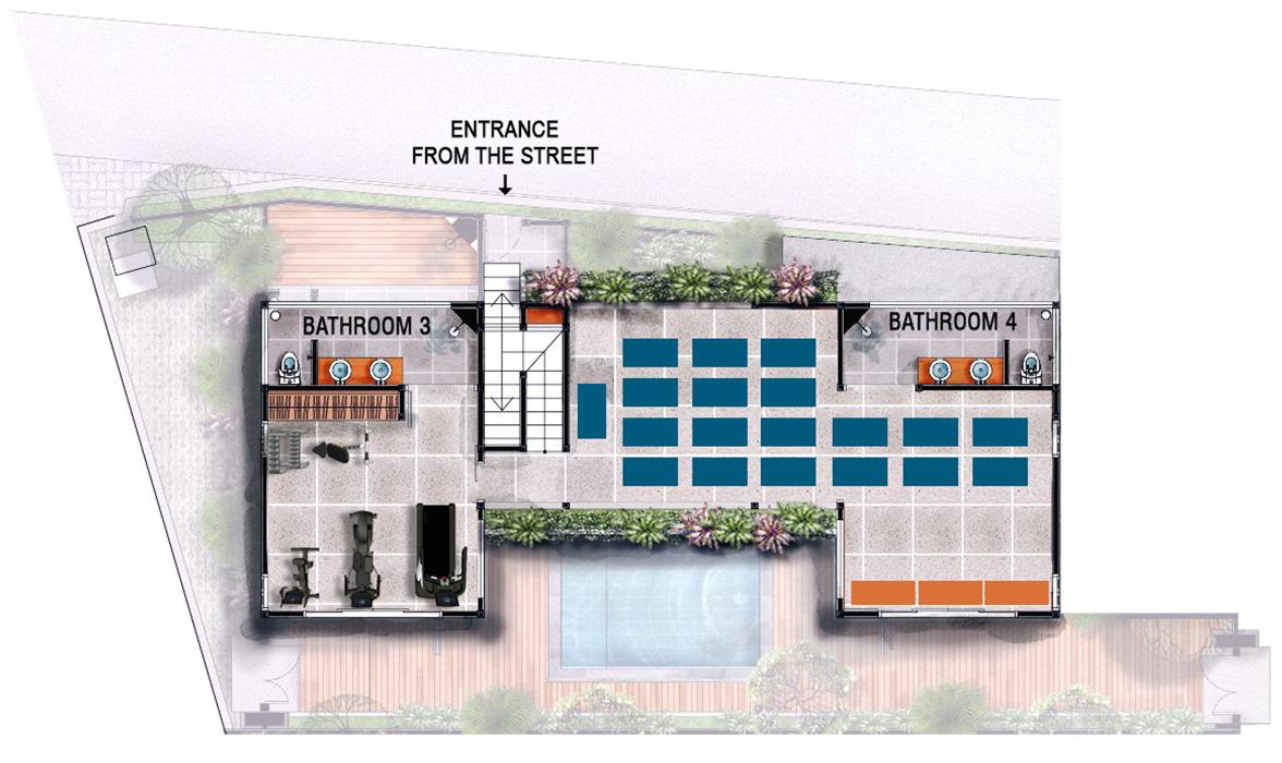 Blue Karma Oasis Seminyak - Floorplan GYM