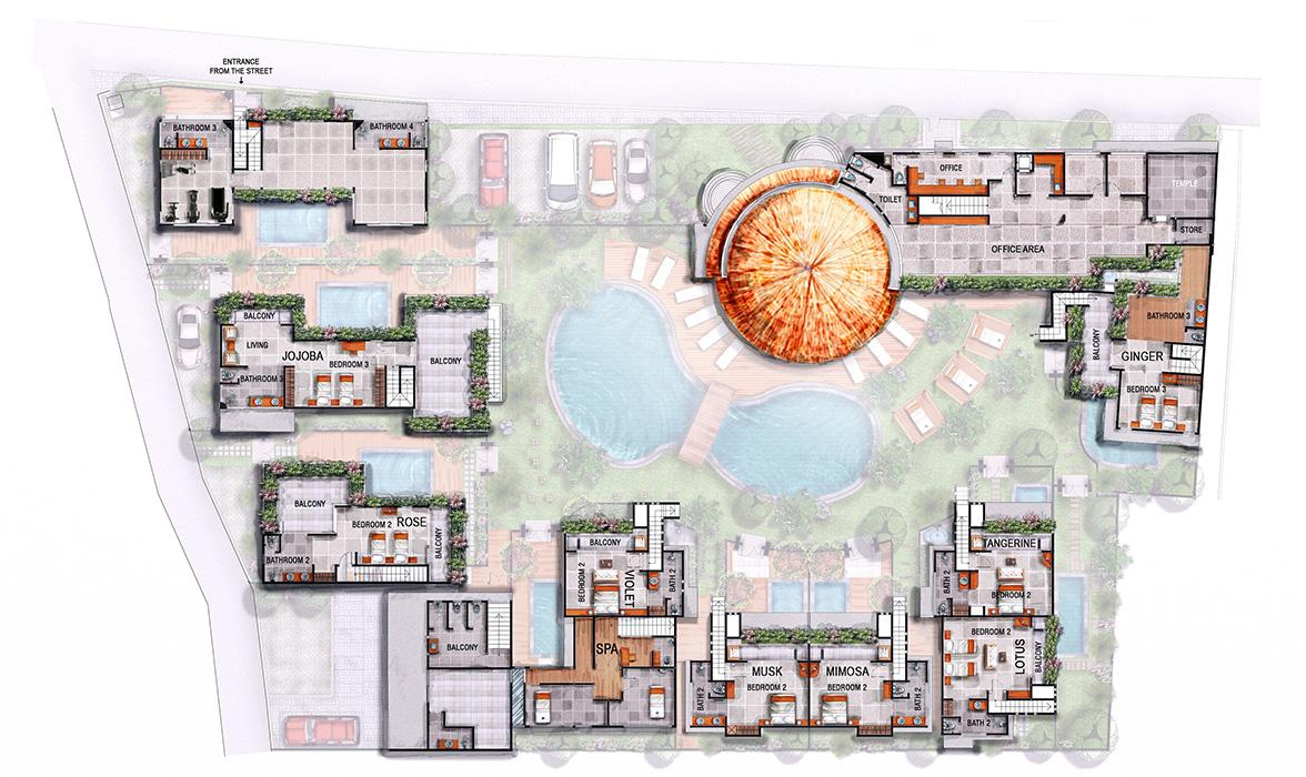 Blue Karma Hotel Seminyak - Floorplan - First floor