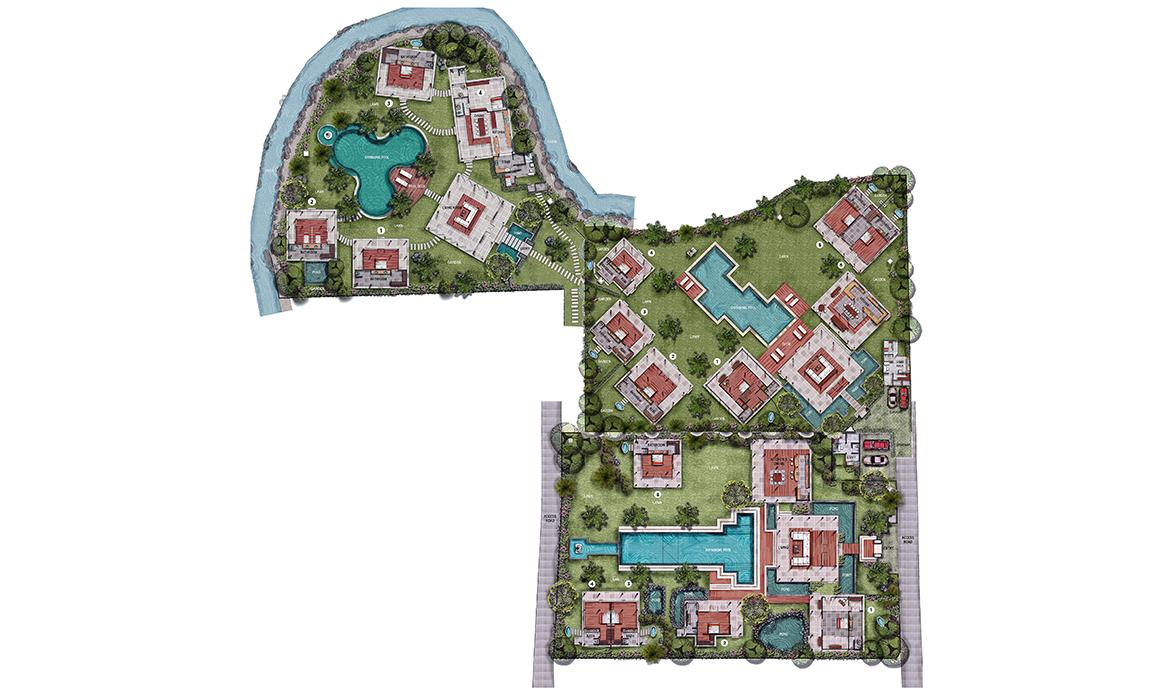 Blue Karma Villas Umalas - General Floor Plan